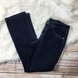 JAG Jeans Mid rise straight leg dark wash size 8